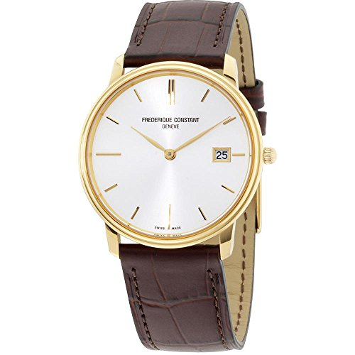Frederique Constant Slimline Quartz Movement Grey Dial Men's Watch FC-220NV4S5