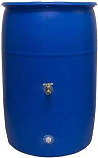 Good Ideas RB55-BLUE Big Blue Recycled Rain Barrel, 55-Gallon