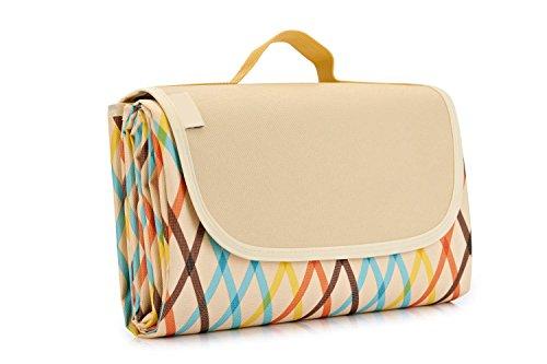 New Triponeer Extra Large Outdoor Picnic Blanket 57'79' Foldable Patterned Waterproof Handy Folding ...