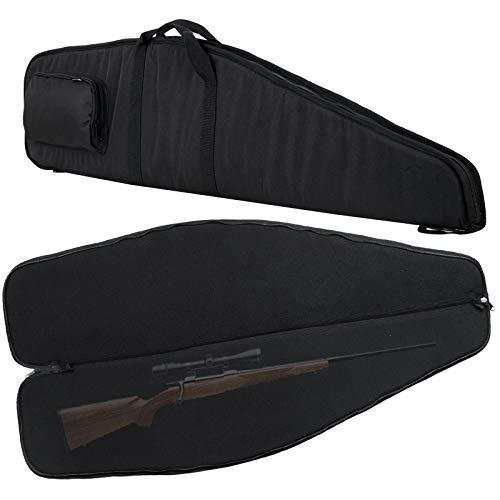 "LXDAZSX Gun-Cases Soft Rifle-Cases Long-Rifle-Bag Airsoft Rifle Cases for Hunting Shooting Range Sports Shotgun Storage Black 50"""