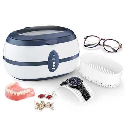 Uten Ultraschallreiniger Ultraschallreinigungsgerät brillenreinigungsgerät 600ml Ultraschallgerät für Brille Schmuck Uhren Zahnprothesen Ringe Ulrtaschallbad-40,000Hz 35W Timing ultrasonic cleaner