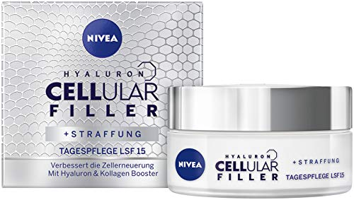 NIVEA Hyaluron CELLular Filler Anti-Age Tagespflege Creme (1 x 50 ml), schützende Tagescreme mit LSF 15, wirksame Anti Falten Feuchtigkeitscreme