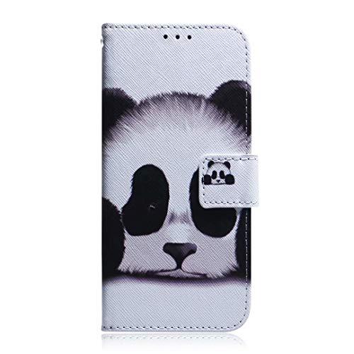 Funda para Huawei Y7P, a prueba de golpes, suave, de piel sintética, con función atril, tarjetero, ranura para identificación, delgada, tapa protectora para Huawei Y7P, color Panda., tamaño Huawei Y7P