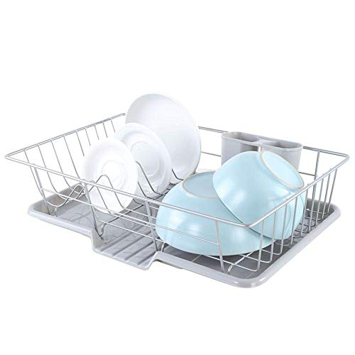 LHQ-HQ Dish Drying Rack, Kitchen Sink Dish Plate Drying Rack Cutlery Holder Chopsticks Storage Basket Wear Resistant and Smooth Ideal to Put Dish Bowl Cup Chopsticks