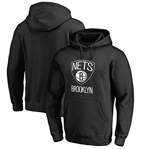 NIUPUPU Hombres Camiseta de Baloncesto NBA Brooklyn Nets Sudadera con Capucha Jersey de Manga Larga Deportes al Aire Libre S-XXL