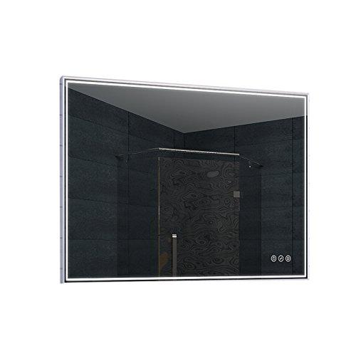 Lux-aqua LED-badkamerspiegel, glas, aluminium