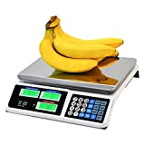 C-CHAIN 66LB Digital Price Scale Electronic Price Computing Scale LCD Digital Commercial Food Meat Weight Scale, Upgraded Version