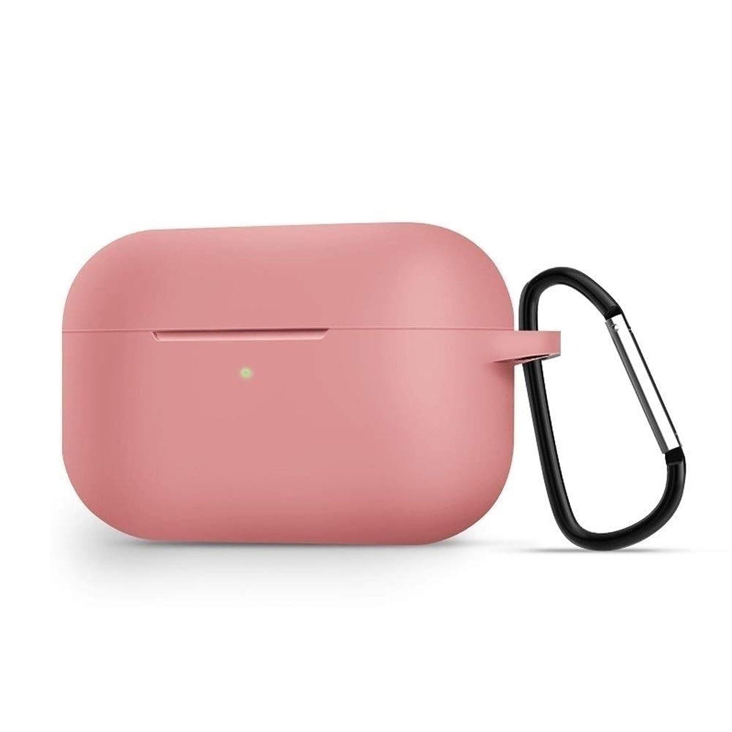 郊外マーガレットミッチェルハードリングHKXR スタイリッシュな保護カバー、防水ワイヤレスBluetoothヘッドセット、液状シリコーン新しいシンプルソリッドカラー超薄型クリエイティブ保護カバー、 (Color : Pink)