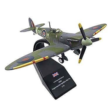 Almencla 1/72 Alloy Aircraft Spitfire Fighter UK Air Force Model Toys Kids Gift