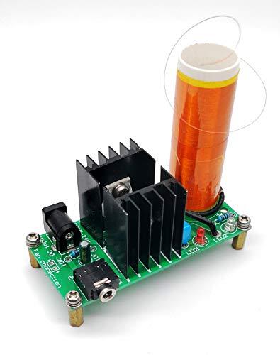 DIKAVS DC 15-24V 15W Mini Music Tesla Coil Plasma Speaker Loudspeaker Tesla Wireless Transmission DIY Kits
