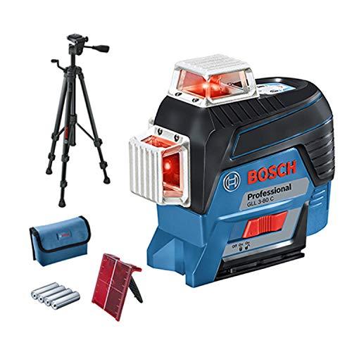 Bosch Professional Lijnlaser rode laser + BT 150 + doos zwart, blauw