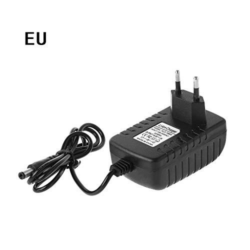 cuigu Cargador con enchufe de EU 4S 16,8V 2A para 18650batería de litio 14.4V Serie Cargador de batería de litio Li-ion cargador de batería 110V-245V