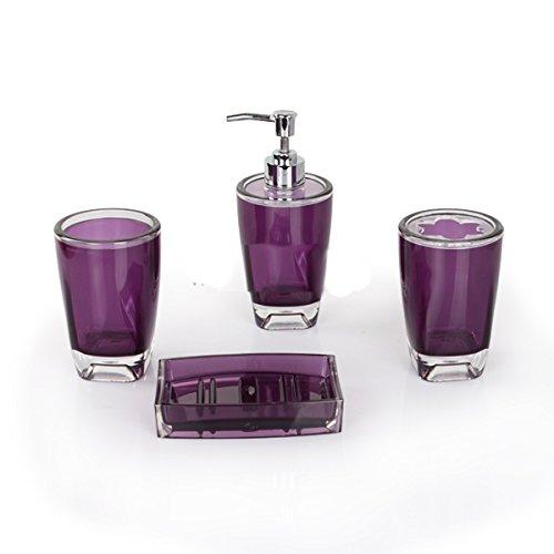 Purple Bathroom Accessories Amazon Co Uk