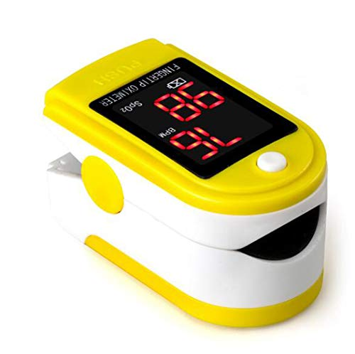 Vingertop Pulsoximeter SpO2 zuurstofverzadiging van het bloed Monitor Portable Digital Display Oximeter Fast Reading met draagkoord for Travel Sports