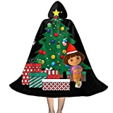 KUKHKU Dora The Explorer Around The Christmas Tree Capa con Capucha Unisex para niños, decoración de Halloween para Fiestas, Disfraces de Cosplay