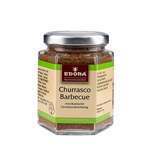 Premium Qualität Gewürz EDORA Schraubglas Churrasco BBQ mexikanische Gewürzzubereitung 110 Gramm