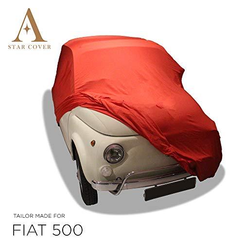 AUTOABDECKUNG ROT PASSEND FÜR FIAT 500 INNEN SCHUTZHÜLLE ABDECKPLANE SCHUTZDECKE VOLLGARAGE Cover