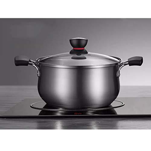 AA-kitchen Pot de Soupe 304 en Acier Inoxydable ménage Pot épais Pot Chaud Pot cuiseur Pot à Lait Petit Pot   Style 1