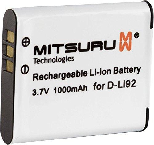 Mitsuru® Akku kompatibel mit Olympus D-Li92 Ricoh X70 CX3 Olympus mju Tough 9010 SP-610UZ D-755 D-760 Smart D-750 SP-720UZ SP-800UZ SP-810UZ SZ-10 SZ-11 SZ-12 SZ-14 SZ-20 SZ-30 SZ-30MR