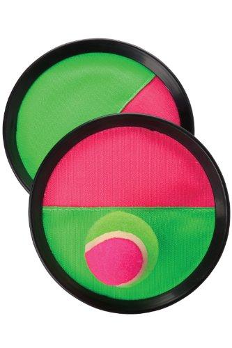 Mountain Warehouse Kit Catch Ball - Jouet d'extérieur durable, léger, disques du jeu Catch en Strap à Scratch, jouet de jardin à dragonnes - Pour les pique-niques l'été, le parc, les voyages et le camping Noir Taille unique