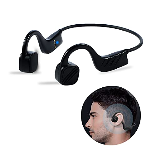 Bone Conduction Headphones for Swimming IPX8 Waterproof Open-Ear 8GB MP3 Music Player Wireless Sport Earphones Headset Built-in Noise Cancelling Mic for Running Diving Water Cycling Jogging