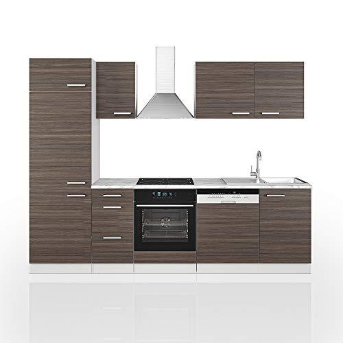 Cucina Vicco Optima Cucina componibile Blocco Cucina Cucina su Misura 270 cm Grigio prezioso