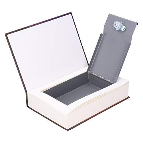 Cassetta di sicurezza in ferro + carta con aspetto a libro simulato, tipo chiave libro sicuro salva-look libro pentola di valore persona oggetti scatola di immagazzinaggio per risparmiare monete