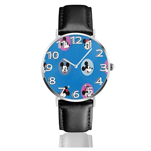 Colorful Head Reloj Unisex de Cuarzo analógico de fácil Lectura de 38 mm con Correa de Cuero