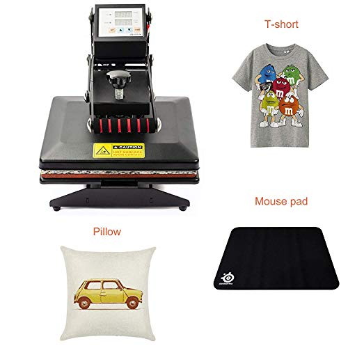 D4P Display4top Transferpresse Tassenpresse Textilpresse T-Shirt Transferpresse Sublimationsmaschine, Einsatz für Industrie, Gewerbe und Haushalt (25cm x 30cm) - 6