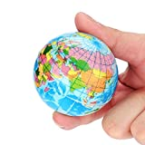 Schimer Globo del mundo inflable para países, ciudades, islas, globo,...