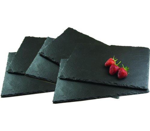 Get Goods - Tovagliette in ardesia, 30 x 20 x 0,6 cm
