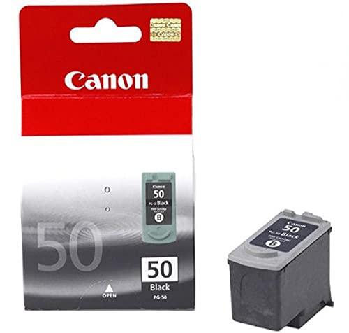 Canon PG-50XL Cartucho de tinta original Negro XL para Impresora de Inyeccion de tinta Pixma MP150-MP160-MP170-MP180-MP450-MP450x-MP460-iP2200