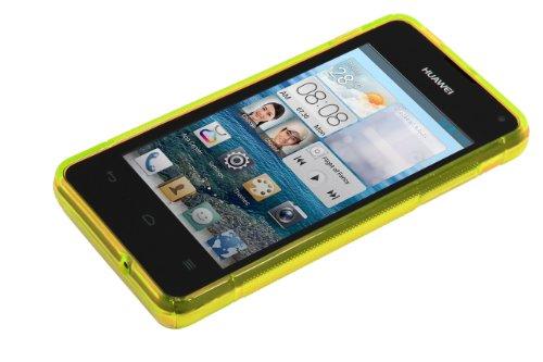 Luxburg® S-Line Design Schutzhülle für Huawei Ascend Y300 in Farbe Goldgelb/Gelb, Hülle Case aus TPU Silikon - 4