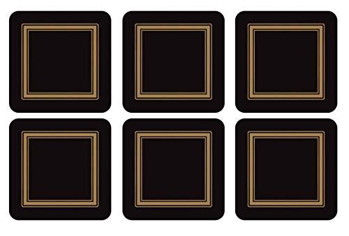 Pimpernel Untersetzer - Classic Black - 6er Satz