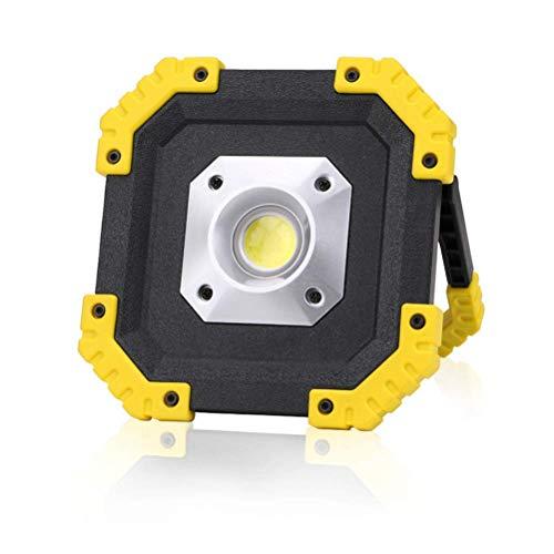 Foco LED portátil, lámpara de camping plegable de 10 W, luz de trabajo al aire libre, 200 lm, blanco frío 6000 K, reflector de iluminación de emergencia IPX4 resistente al agua para cortes de energía