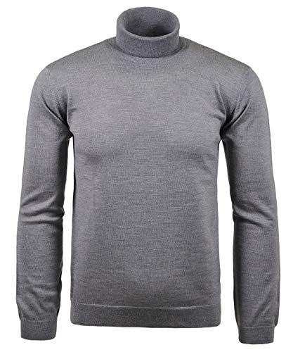 Ragman Herren Rollkragen-Pullover Merino