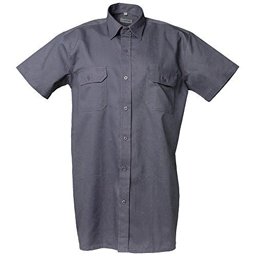 Planam huvskjorta 1/4 arm storlek 41/42, L, grå, 405041
