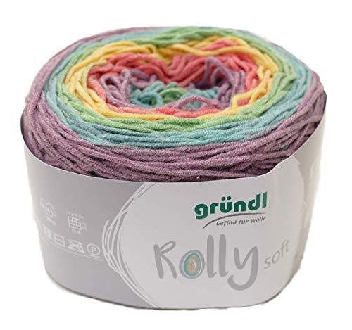 Rolly Gründl Filo Blu Soft Bobbel Farbverlaufswolle, Baumwollmischgarn Baumwolle Polyacryl mit Farbverlauf (Farbwahl) (07)