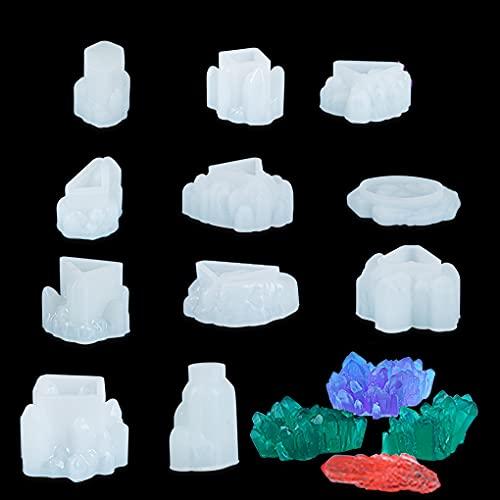 FineInno 11 Piezas Juego de Moldes de Racimo de Cristal Iceberg de...
