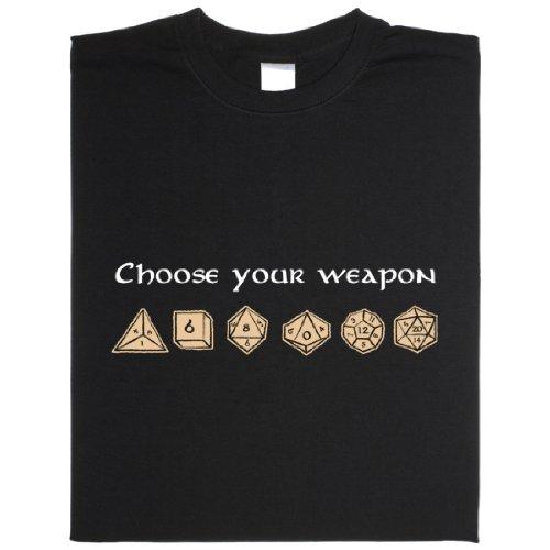 Choose Your Weapon - Geek Shirt für Computerfreaks aus fair gehandelter Bio-Baumwolle, Größe L