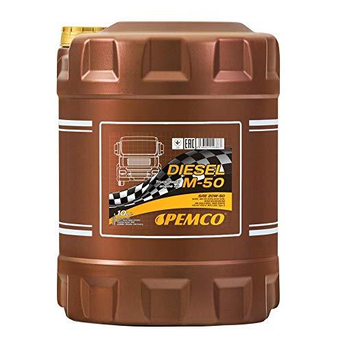 1 x 10L PEMCO DIESEL M-50 SHPD 20W-50 / NKW Motoröl LKW Busse Traktor Lader MB 228.3 229.1