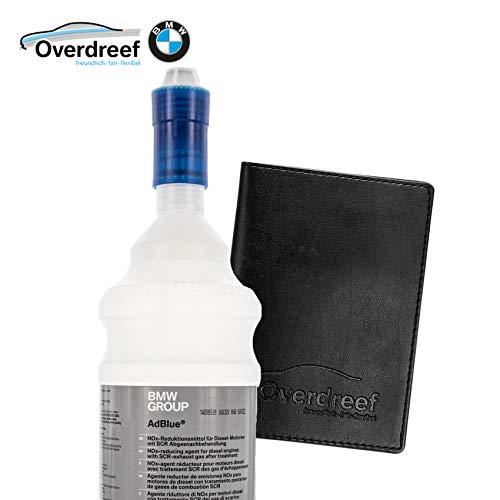Overdreef Set aus Mappe für Fahrzeugpapiere und BMW Diesel Exhaust Fluid (83190441139), AdBlue Flasche mit 1,89 Liter