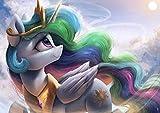 YUBYUB Rompecabezas para Adultos De Madera 1000 Piezas Muy Desafiante Rompecabezas mi pequeña Princesa Celestia pony//75 * 50 CM
