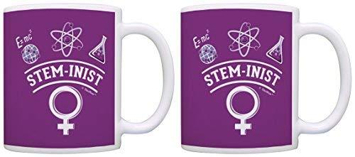 Mujeres en la ciencia esteminista feminista ciencia mujer mujer profesora de ciencia regalos mujer ingeniera regalo taza de café taza de té