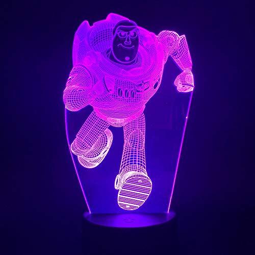 Mehrere Farben Farbe LED Nachtlicht Spielzeug 3d Kinder Ornamente Ornamente atmosphärische Beleuchtung visuellen Effekt
