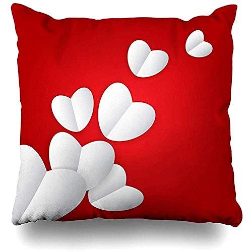 Imodest Kussenslopen Loyalty Rood Happy Valentines Dag Knuffels Gefeliciteerd Paardebloem Kussensloop 45 x 45 cm Kussensloop set van 2