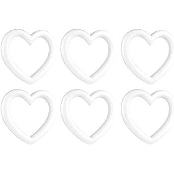 NUOBESTY 10 st/ücke Handwerk Schaum Kranz polystyrol styropor Schaum Ringe f/ür Thanksgiving Weihnachten DIY Ornament Handwerk Blumen liefert 14 5x2 5 cm