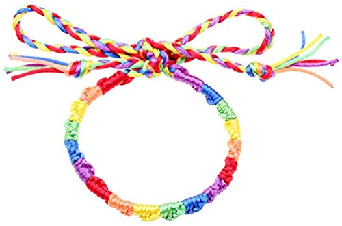 INSTO LGBT Pride Rainbow Cord Bracelet Wristband Jewelry Gift