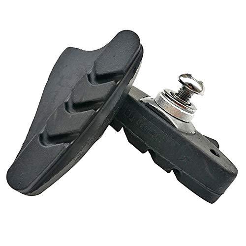 MHXY Reduce el ruído Pastillas de Freno de Bicicleta C con Tuercas hexagonas C-Bloques de Frenos Set Set 55mm for Piezas de Bicicleta Plegables de Carretera Mejorar la disipación de Calor