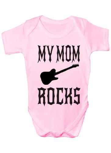 My Mom Rocks Cadeau humoristique Body bébé fille/garçon sans manches - Rose - 6-12 mois